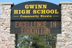 Gwinn High School Sign