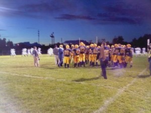 The Negaunee Miners & Gladstone Braves on the Field - Friday, September 7, 2012