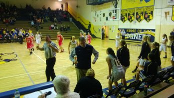 The Negaunee Miners Girls Basketball Team and the Westwood Patriots in Negaunee on Friday, January 18th, 2013 on Sunny 101.9 WKQS-FM