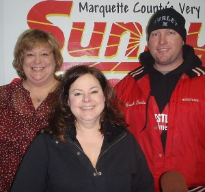 Nancy Isaacson, Christie Houle and Charlie Gentz in the Sunny Studios.