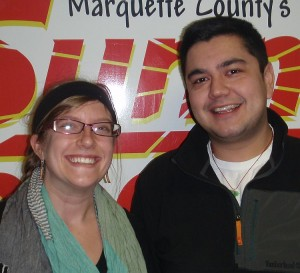Meagan Hennekens and Matt Deal of the YMCA of Marquette County.