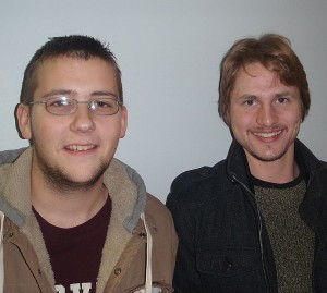 "Ryan Sitzberger and Max Peterson, cast members of ""Fallujah""."