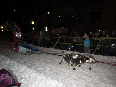 Sled dog racing in Marquette