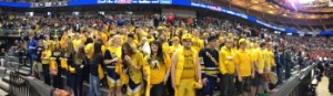 The Negaunee Miner student section made the 7-hour trek downstate to support their squad.