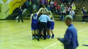 Ishpeming celebrates after being crowned District Champions.