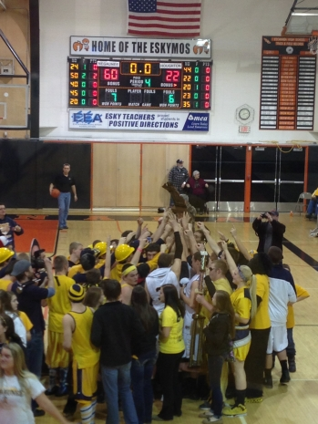 The Miners dawn their trophy after snagging their third consecutive Regional Championship