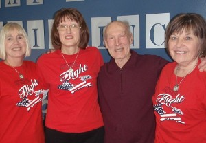 Sue Beranek, Paula Waeghe, Joe Drobny and Barb VanRooy of the U.P. Honor Flight program.