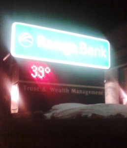 bank temperature