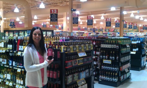 Amy Racine enjoying the new layout of Super One Foods Negaunee
