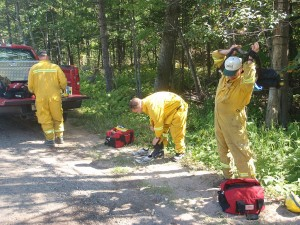 Baraga DNR helps brush fire at Sugarloaf Mountain, Marquette