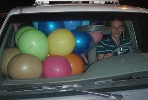 Travis in the Sunny Van