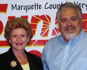 US Senator Debbie Stabenow and News Director Walt Lindala