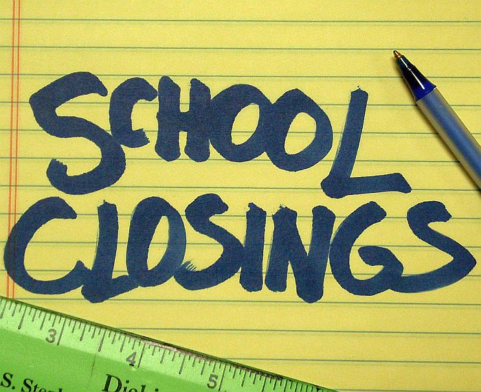 SCHOOL CLOSINGS FOR TODAY.