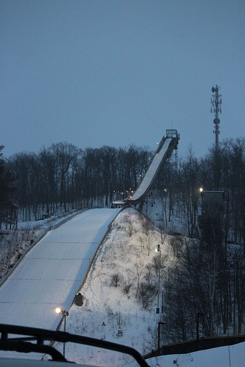 One giant ski jump in Ishpeming which makes us proud of our Ski Hall of Fame members