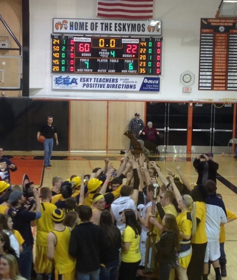 Miners Win Basketball Regionals on March 13 2013